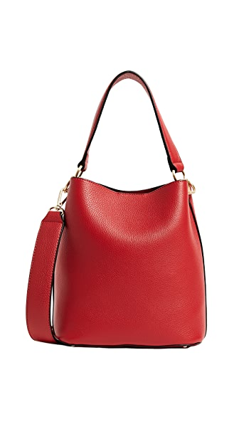 Sam Edelman Nya Small Bucket Bag In Lipstick Red
