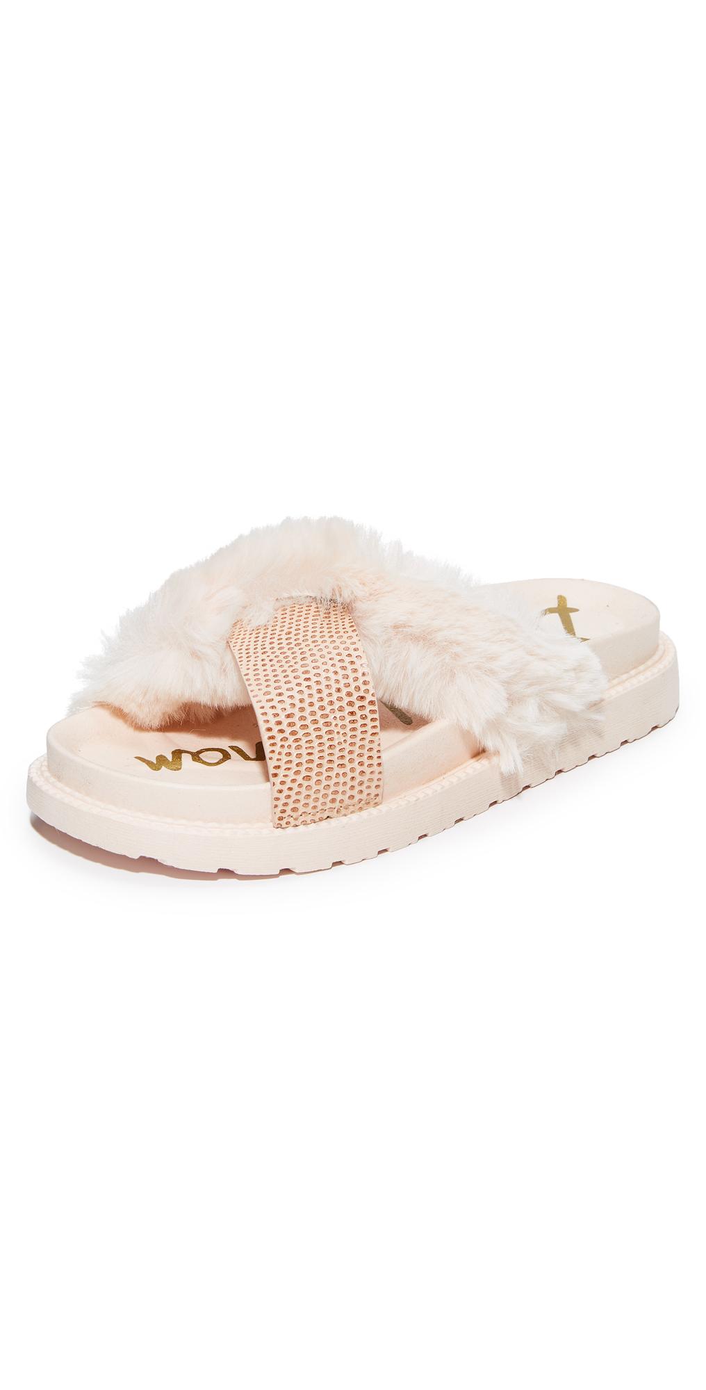Bianca Faux Fur Sandals Sam Edelman