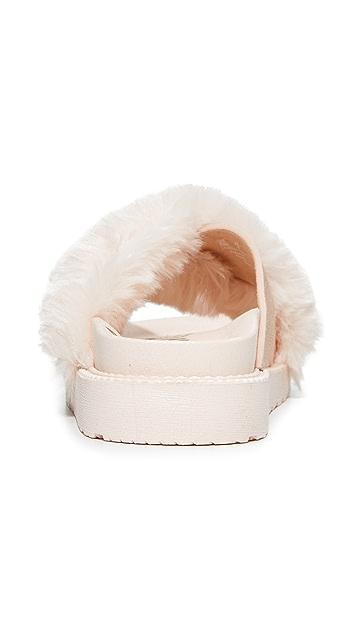 Sam Edelman Bianca Faux Fur Sandals