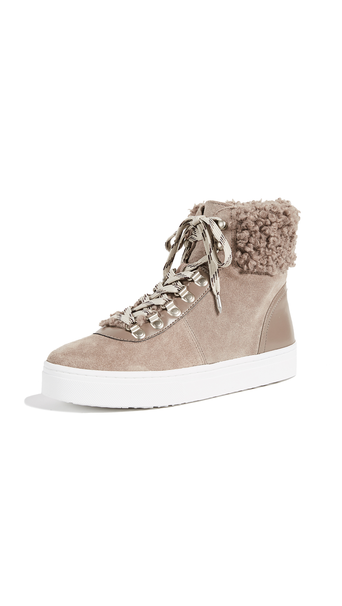 Sam Edelman Luther High Top Sneakers - New Putty
