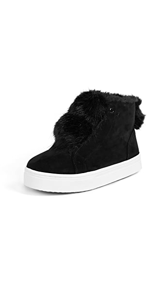 Sam Edelman Lear Sneaker Booties In Black