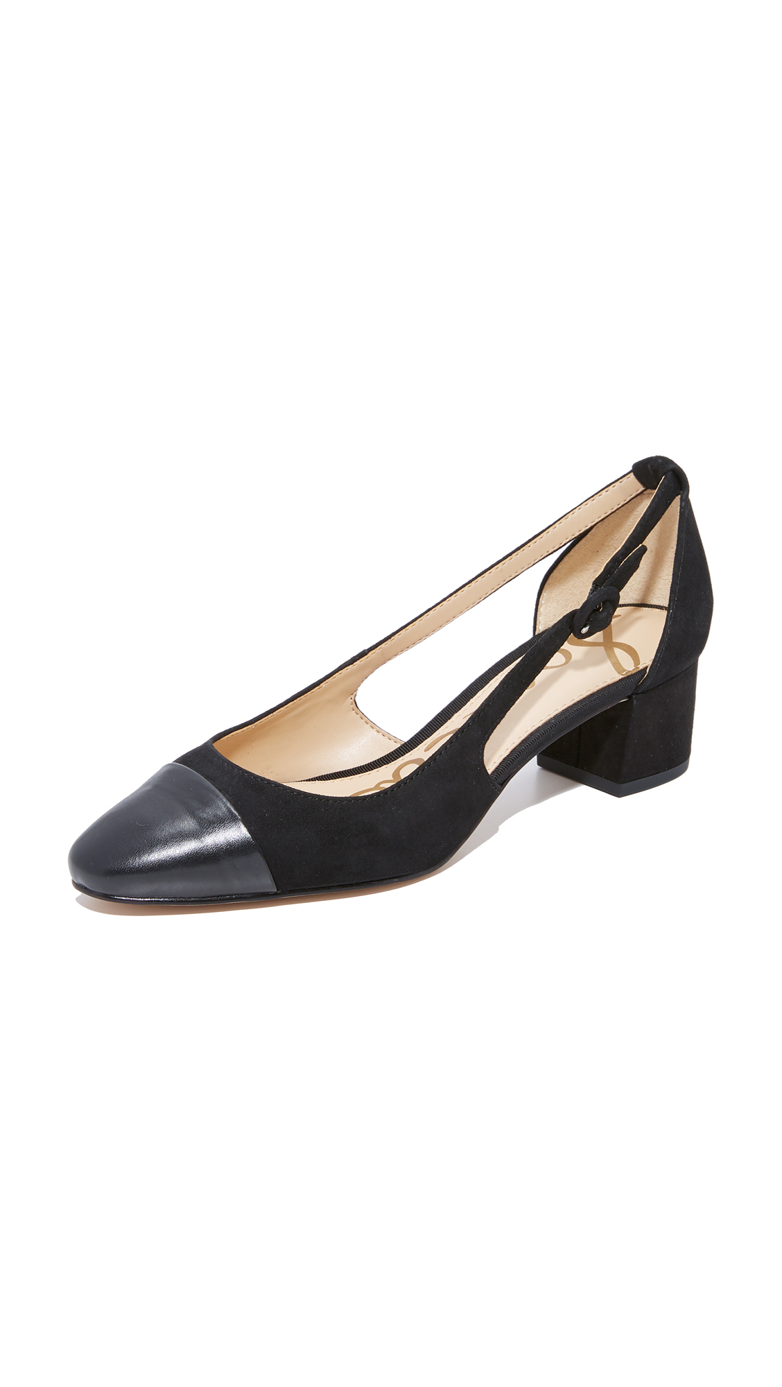 Sam Edelman Leah Cap Toe Pumps - Black