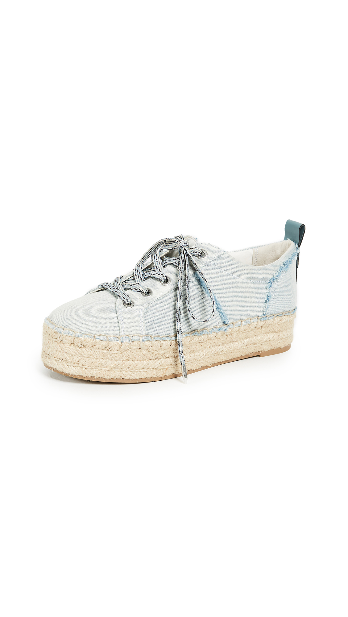 Sam Edelman Carleigh Platform Espadrille Sneakers - Light Blue