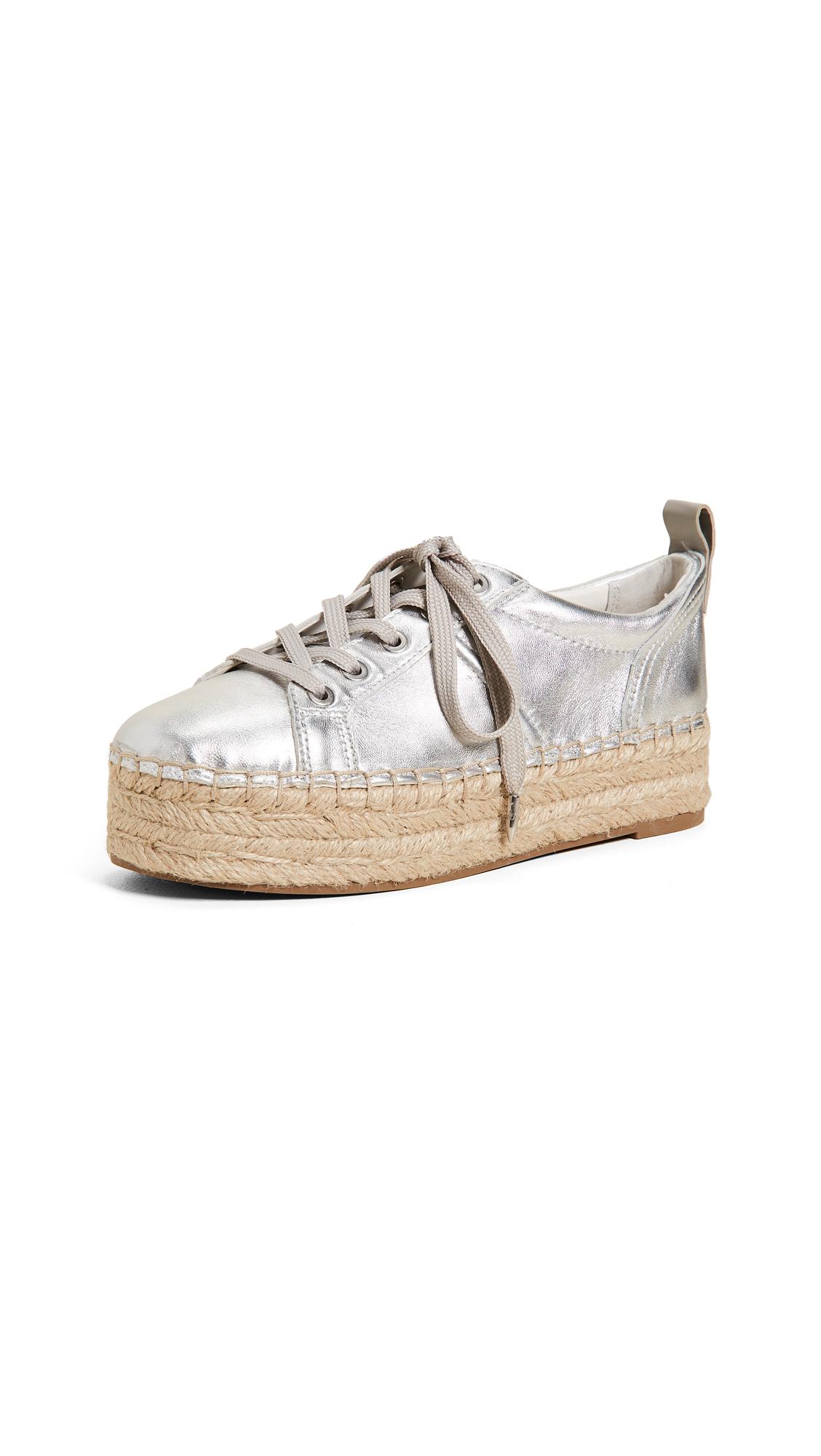 Sam Edelman Carleigh Platform Espadrille Sneakers - Soft Silver