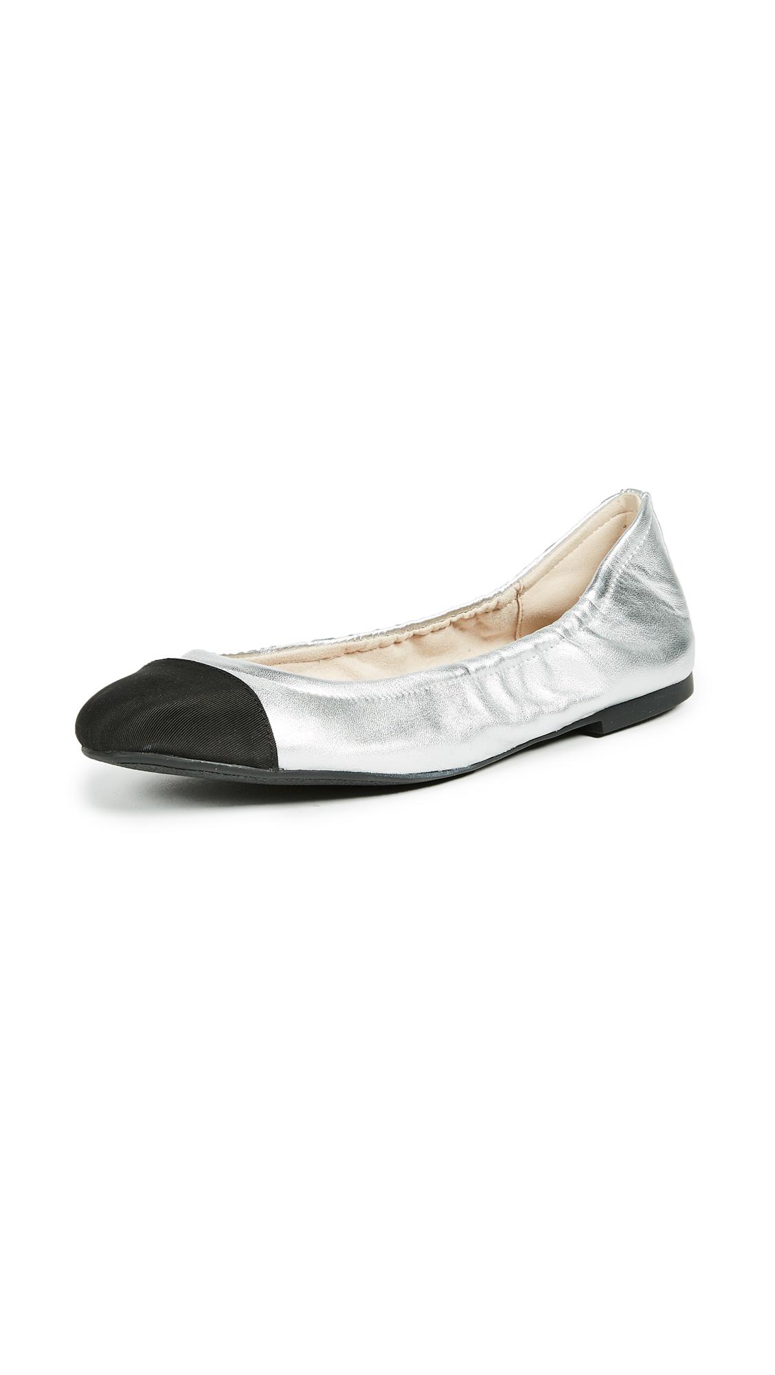 Sam Edelman Fraley Flats - Soft Silver/Black