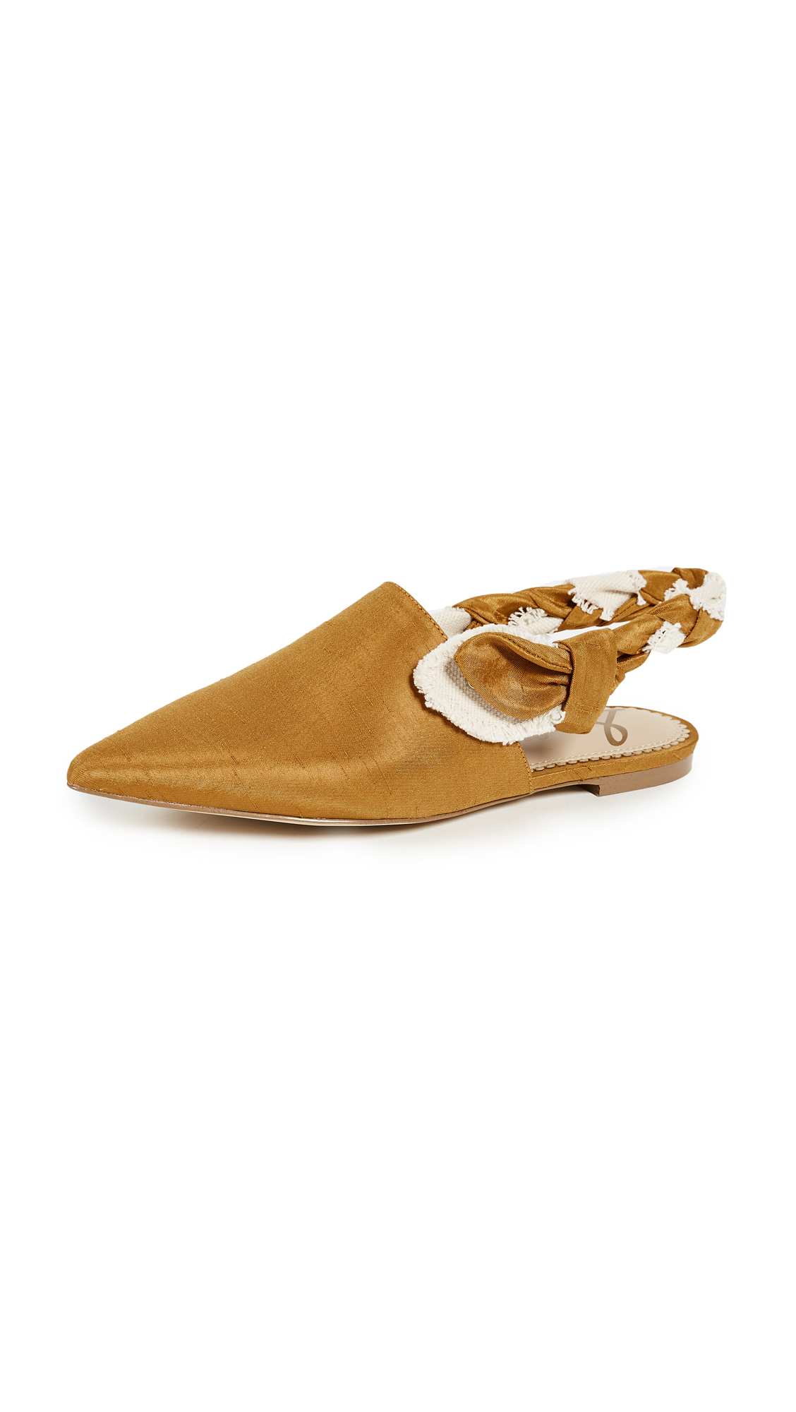 Sam Edelman Rivers Flats - Dark Golden Yellow/Ivory