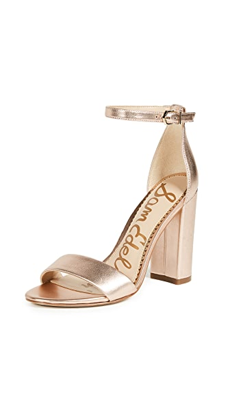 Sam Edelman Yaro Sandals In Blush Gold