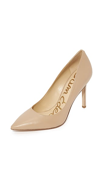 156eb01cf6b628 Sam Edelman Women S Hazel Pointed Toe High-Heel Pumps In Nude Linen ...