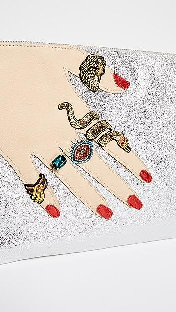 Sam Edelman Jeana Hand Metallic Clutch