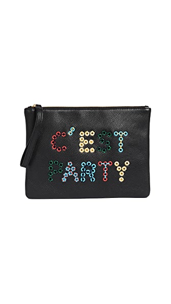 Sam Edelman Layton Verbiage Clutch In Multi