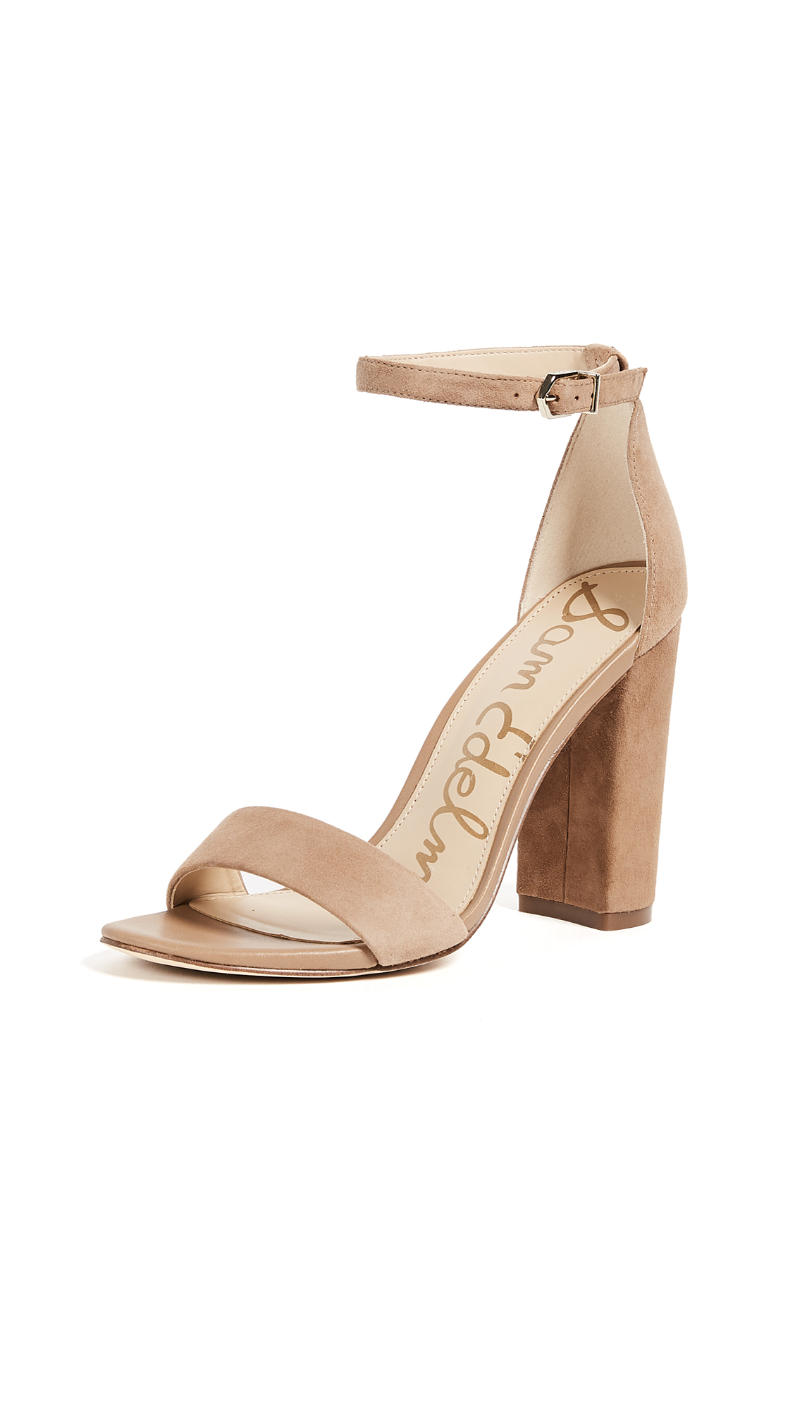 Sam Edelman Yaro Suede Sandals - Golden Caramel