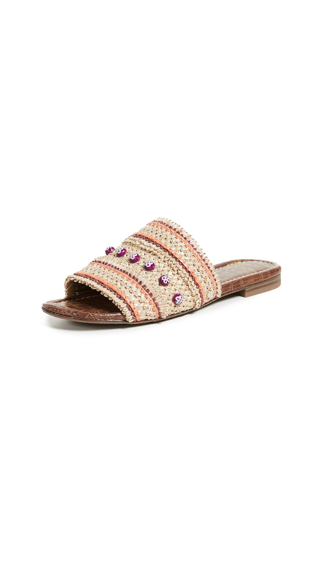 Sam Edelman Brandon Slides - Almond/Sedona Orange
