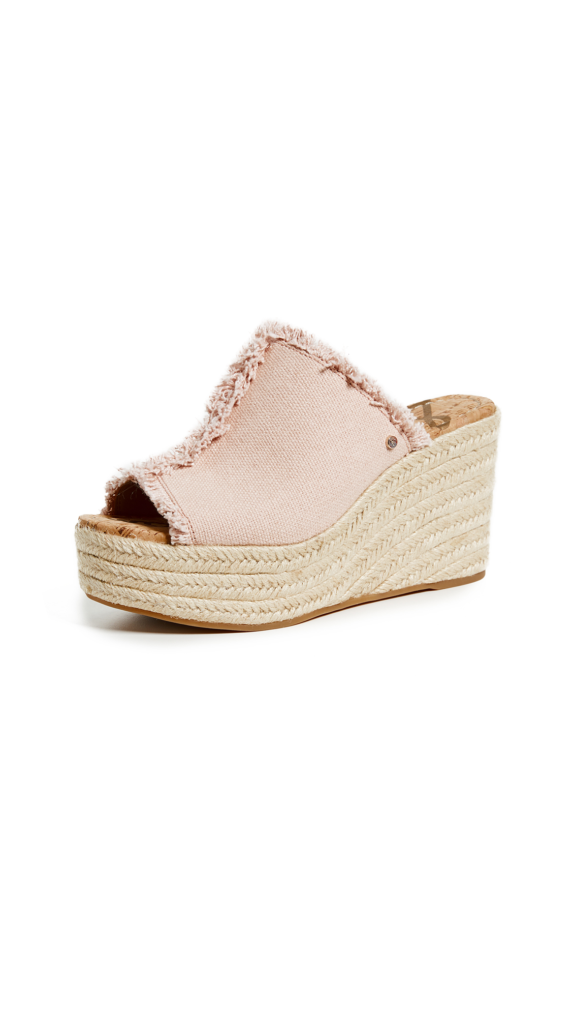 WOMEN'S DINA FRINGED ESPADRILLE WEDGE SLIDE SANDALS