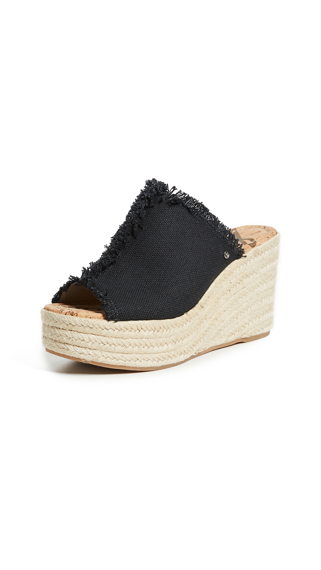 Sam Edelman Dina Espadrille Wedges - Black