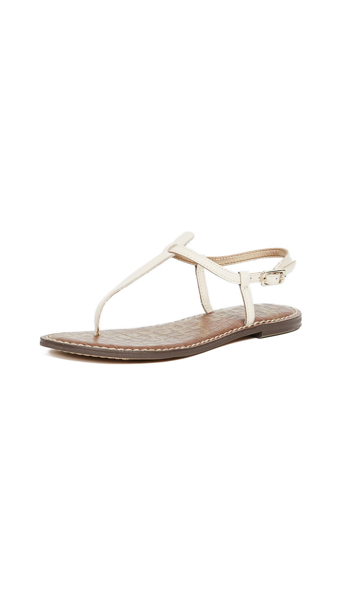 Sam Edelman Gigi Flat Sandals - Modern Ivory