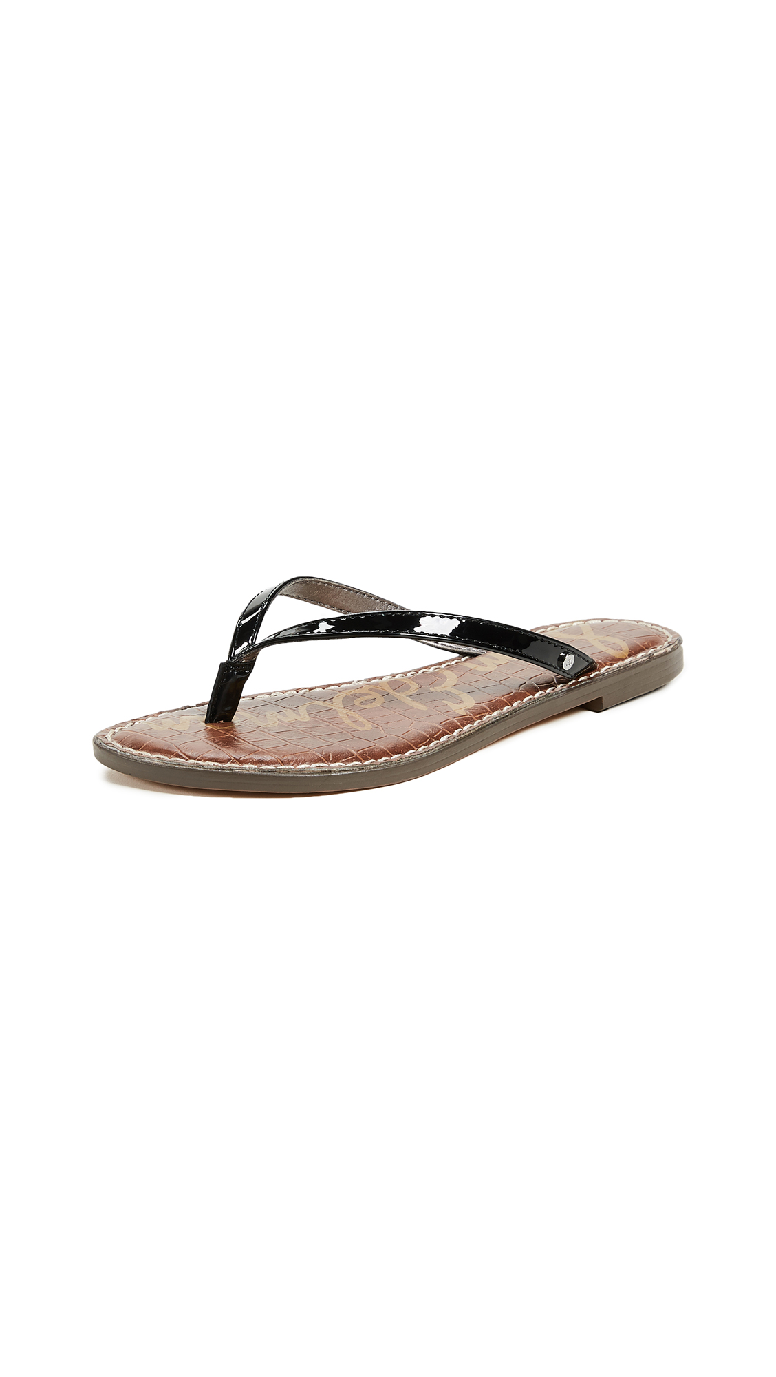 Sam Edelman Gracie Thong Sandals - Black