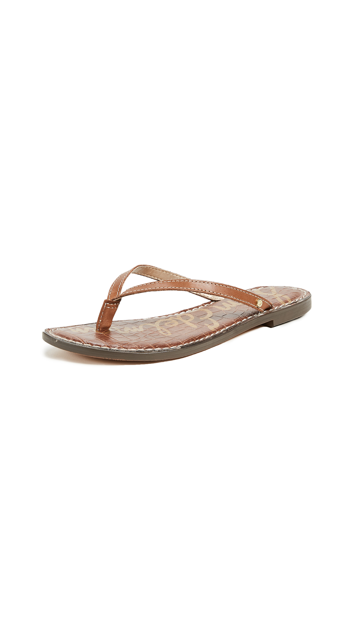 Sam Edelman Gracie Thong Sandals - Luggage