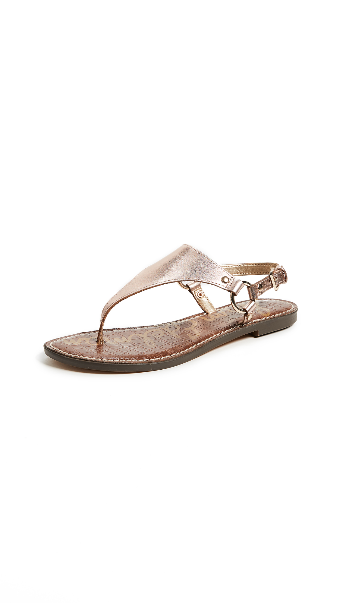 Sam Edelman Greta Flat Sandals - Blush Gold