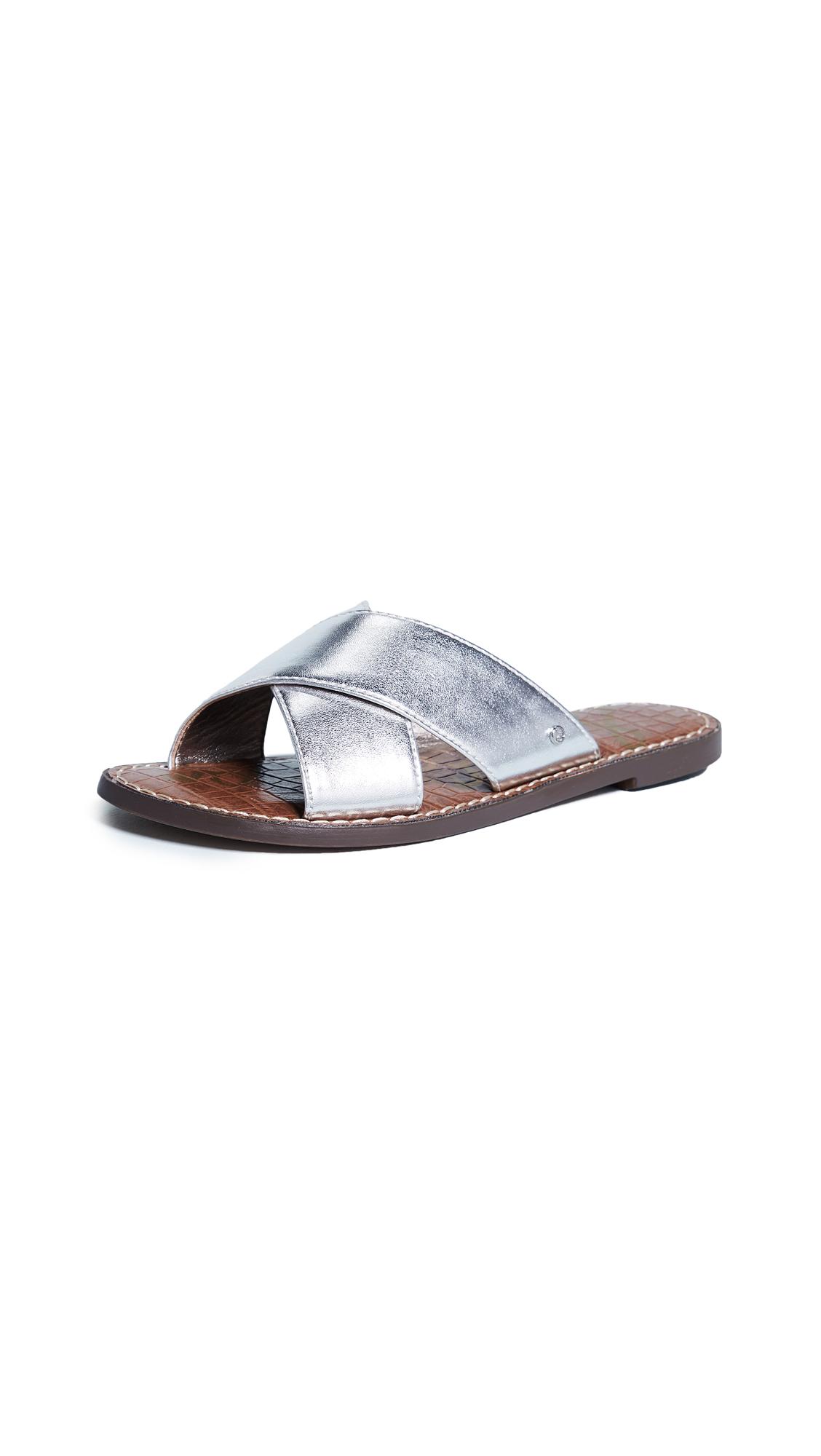 Sam Edelman Gertrude Crisscross Slides - Silver