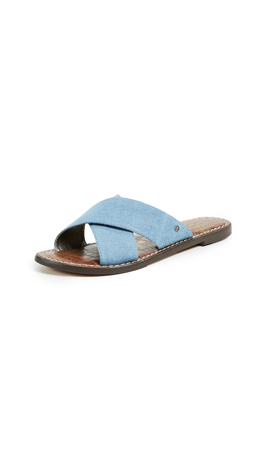 Sam Edelman Gertrude Crisscross Slides - Mid Blue