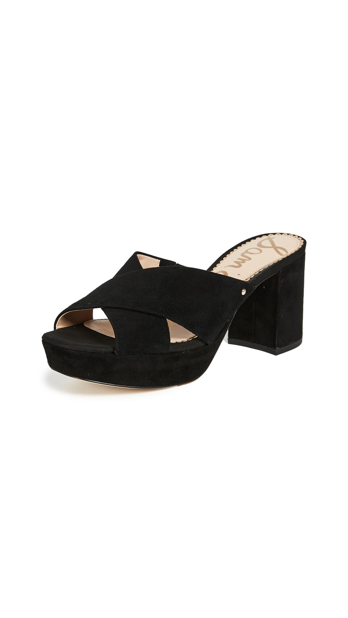 Sam Edelman Jayne Platform Mules - Black