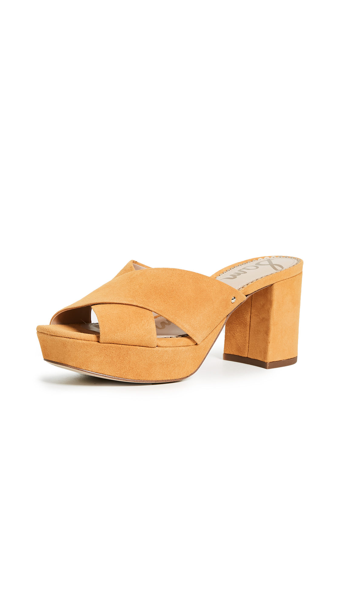 Sam Edelman Jayne Platform Mules - Sunglow Yellow