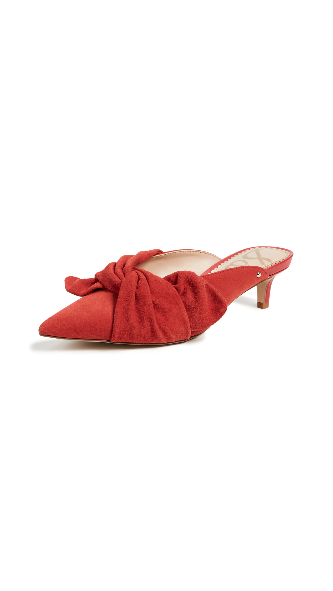 Sam Edelman Laney Bow Mules - Candy Red