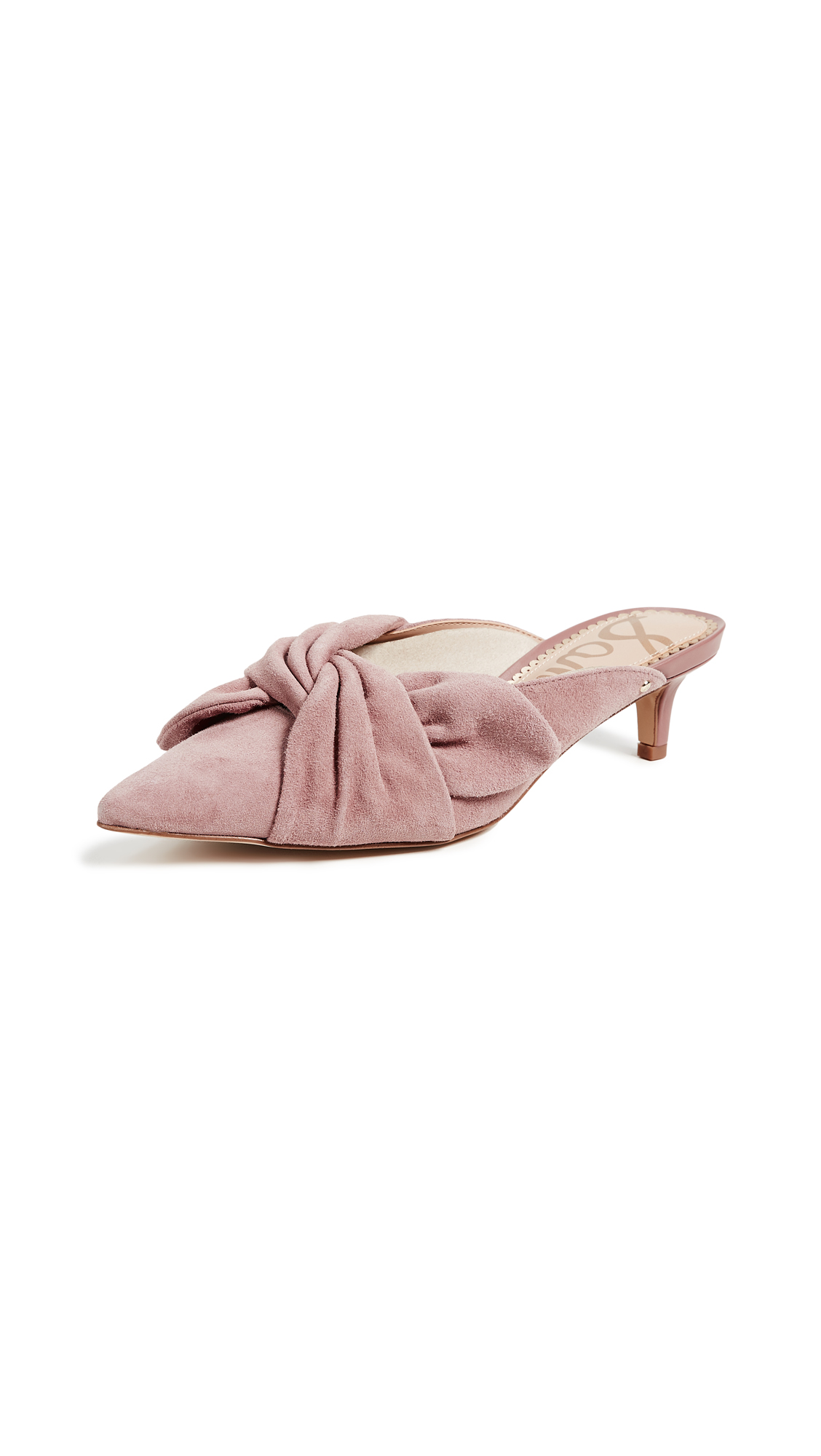 Sam Edelman Laney Bow Mules - Dusty Rose