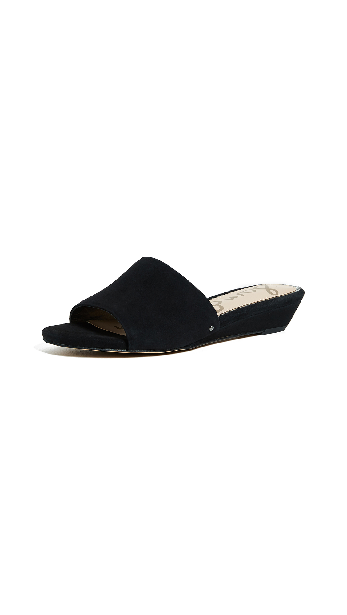 Sam Edelman Liliana Demi Wedge Slides - Black