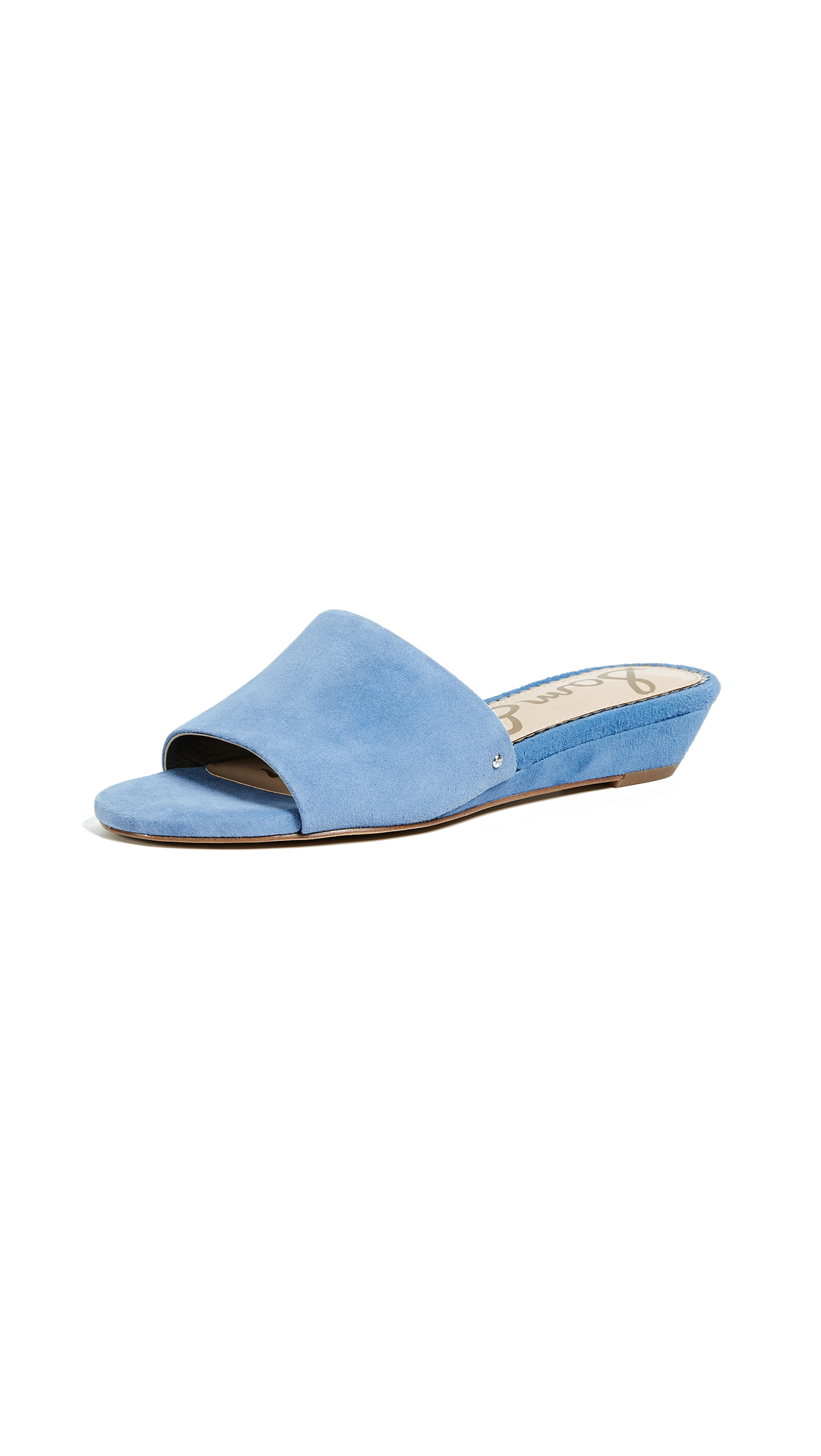Sam Edelman Liliana Demi Wedge Slides - Denim Blue