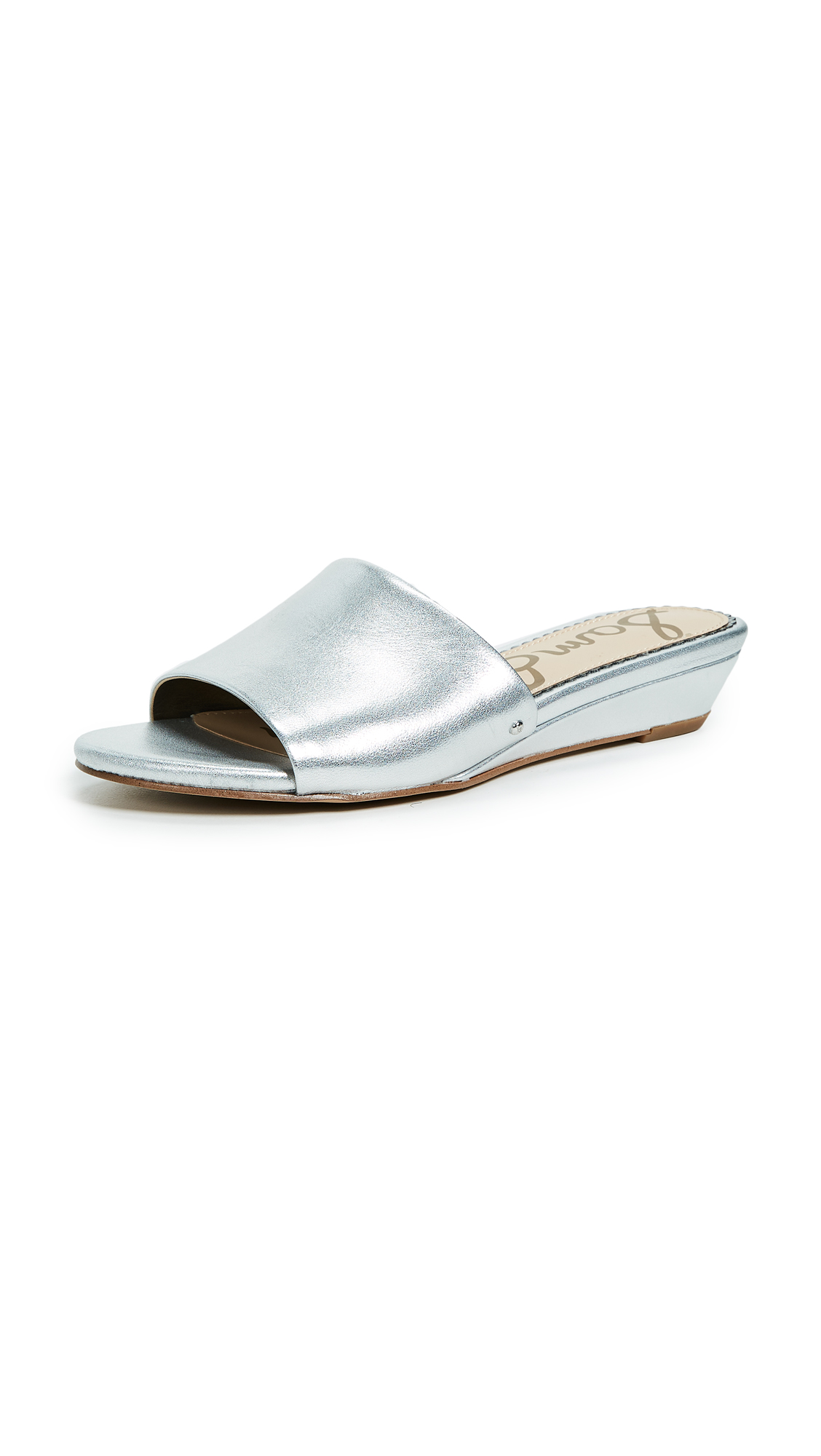 Sam Edelman Liliana Demi Wedge Slides - Silver