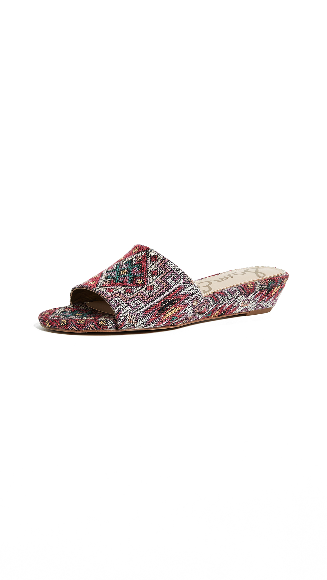 Sam Edelman Liliana Demi Wedge Slides - Red Multi