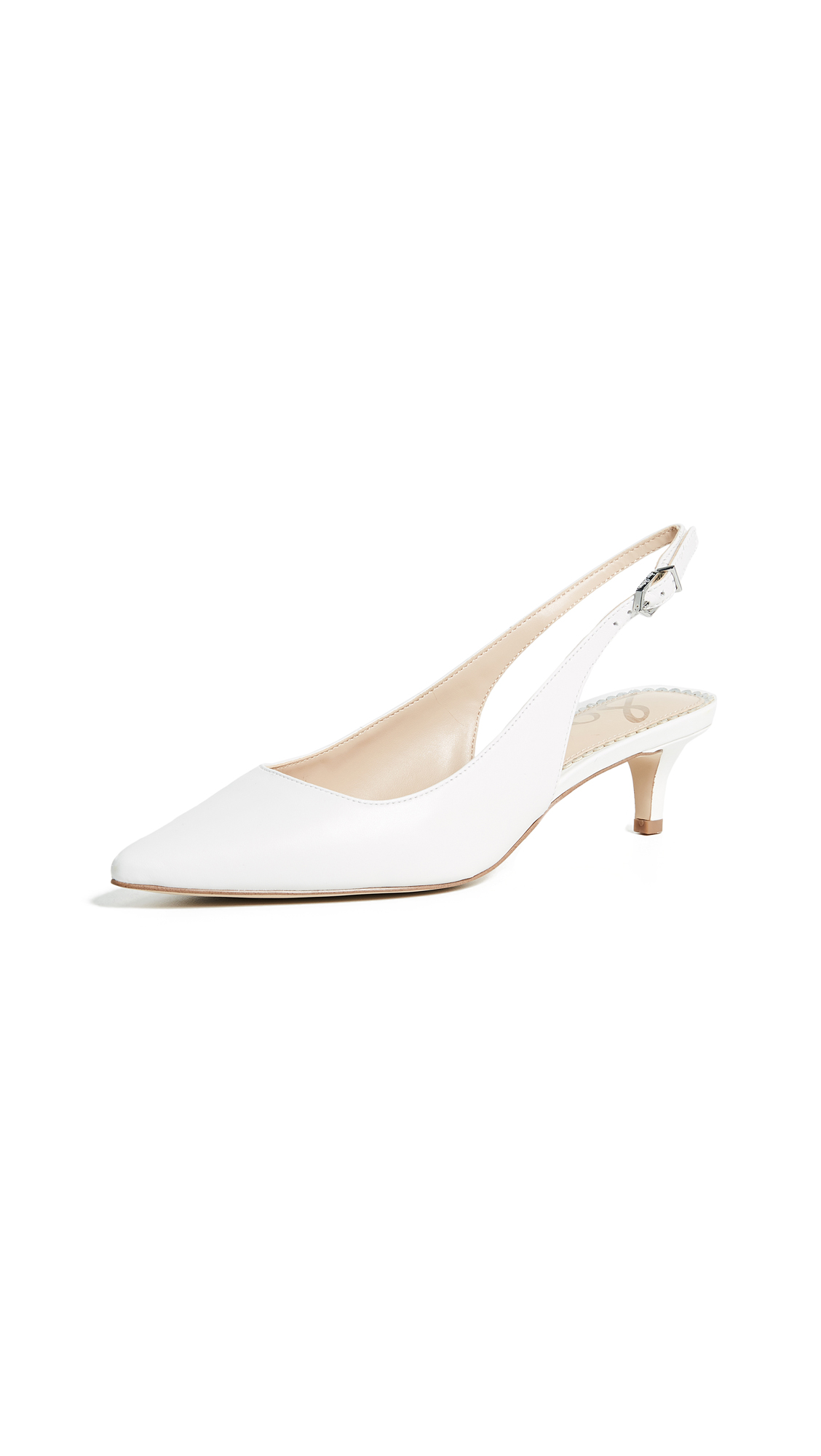 Sam Edelman Ludlow Slingback Pumps - Bright White