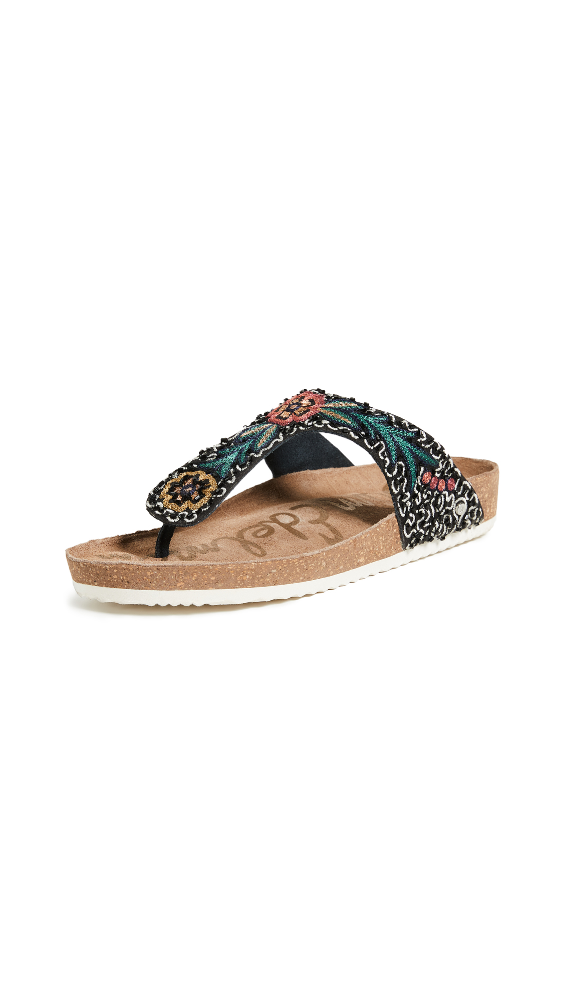 Sam Edelman Olivie 3 Sandals - Black/Black Multi