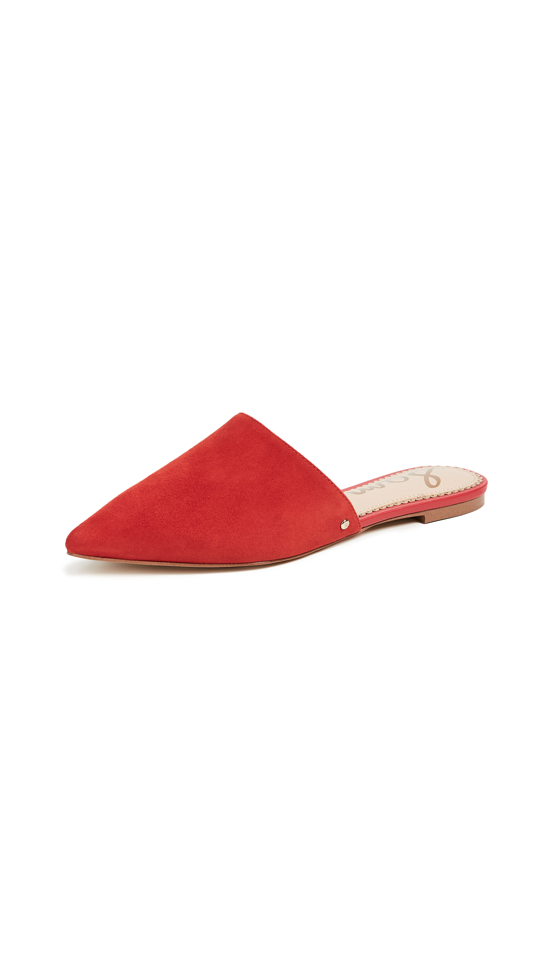 Sam Edelman Rumi Mules - Candy Red