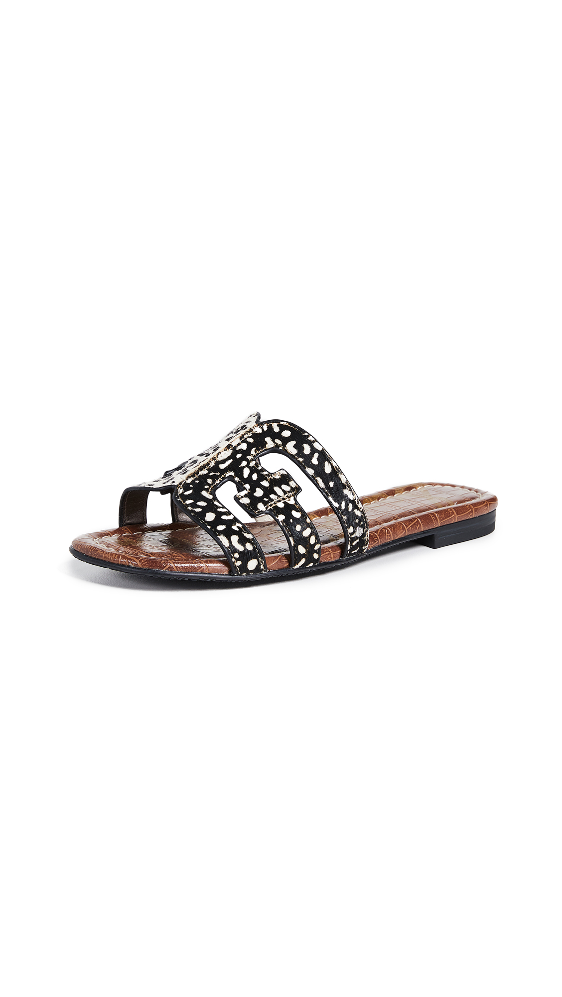 Sam Edelman Bay Slides - Black/Black Ivory