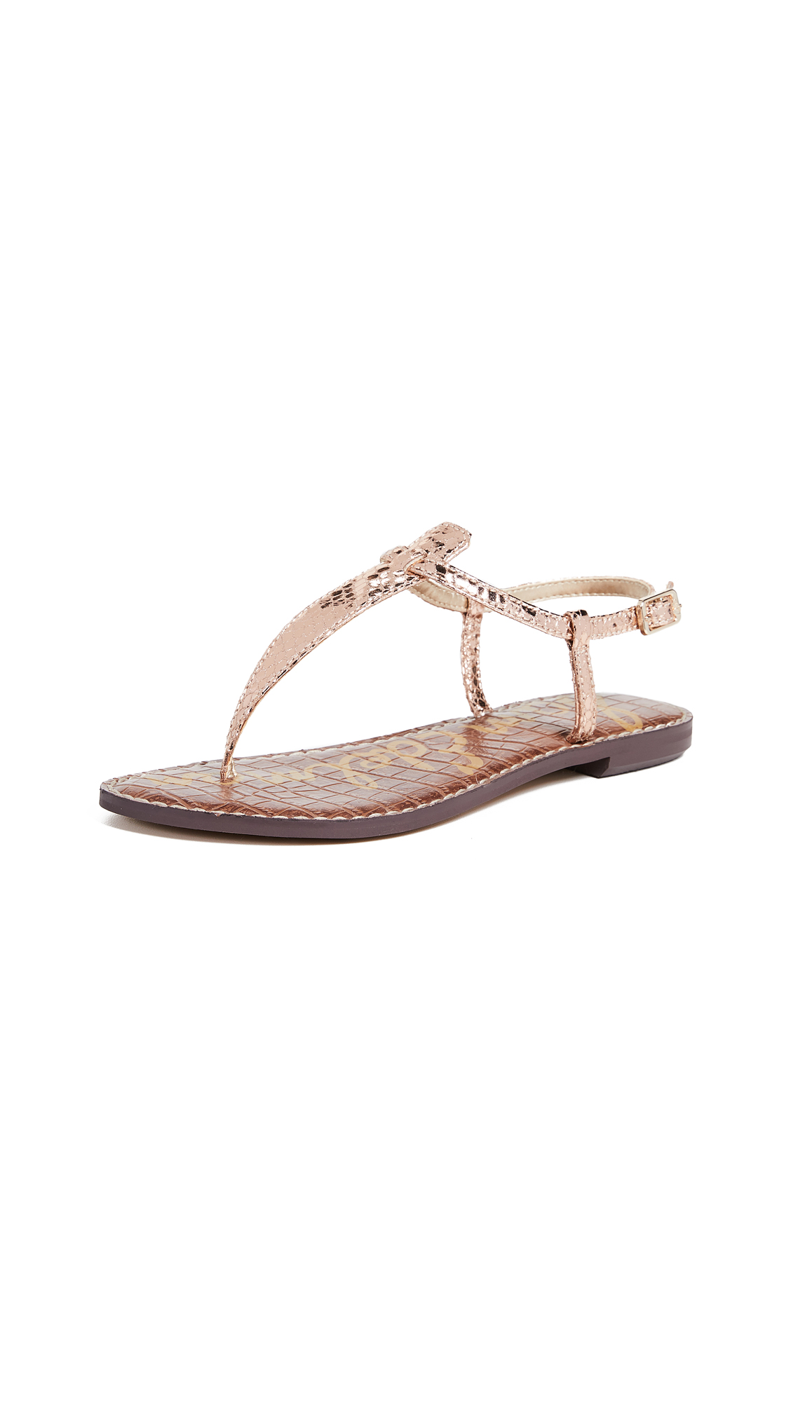 Sam Edelman Gigi Flat Sandals - Rose Gold