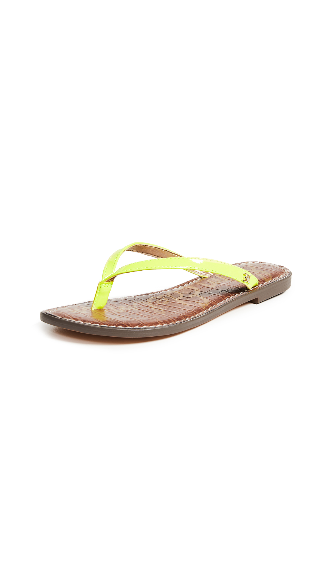 Sam Edelman Gracie Thong Sandals - Neon Yellow