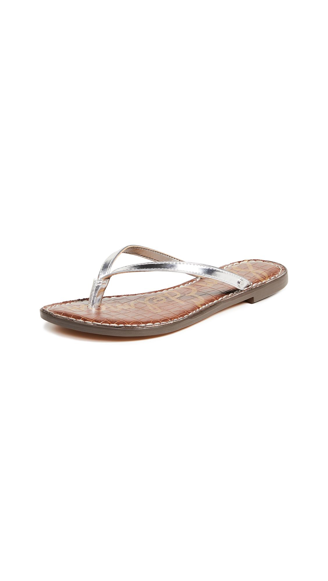 Sam Edelman Gracie Thong Sandals - Soft Silver