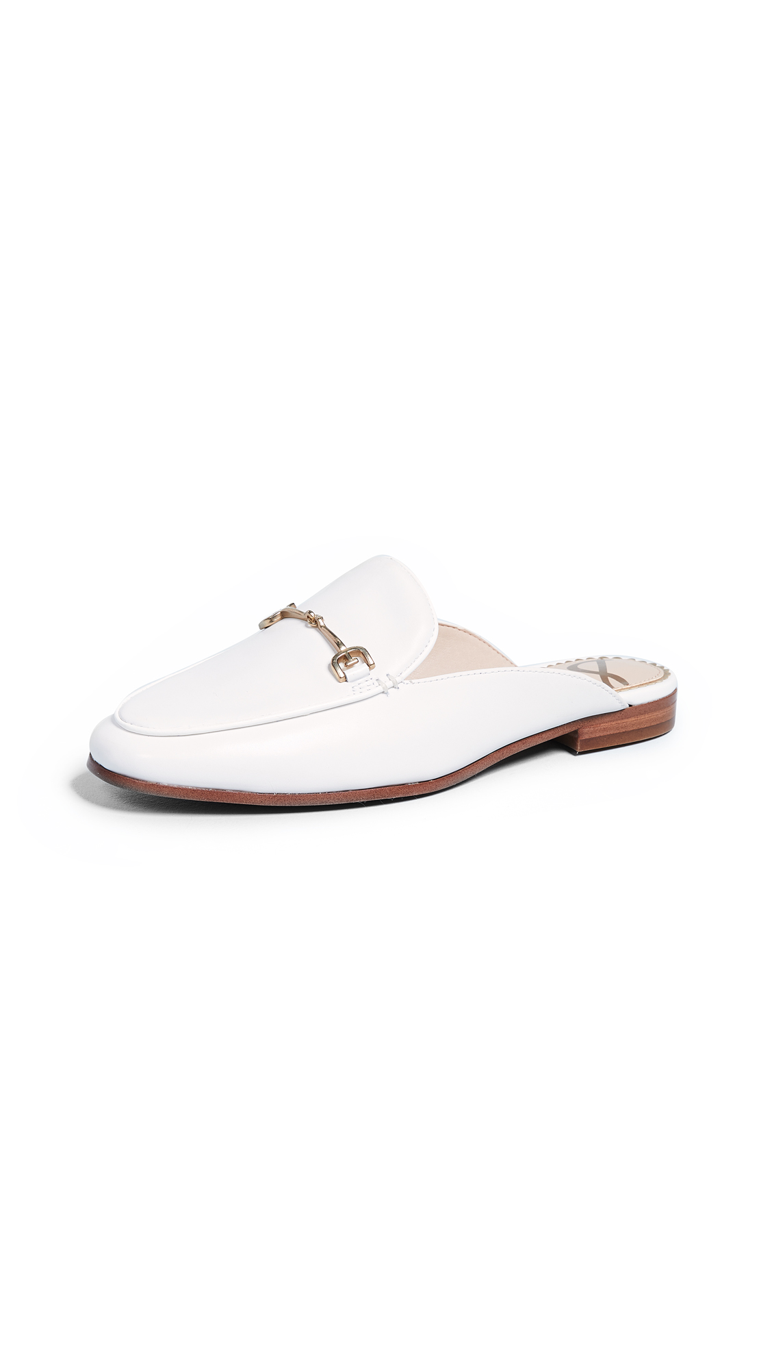 Sam Edelman Linnie Flat Mules - Bright White