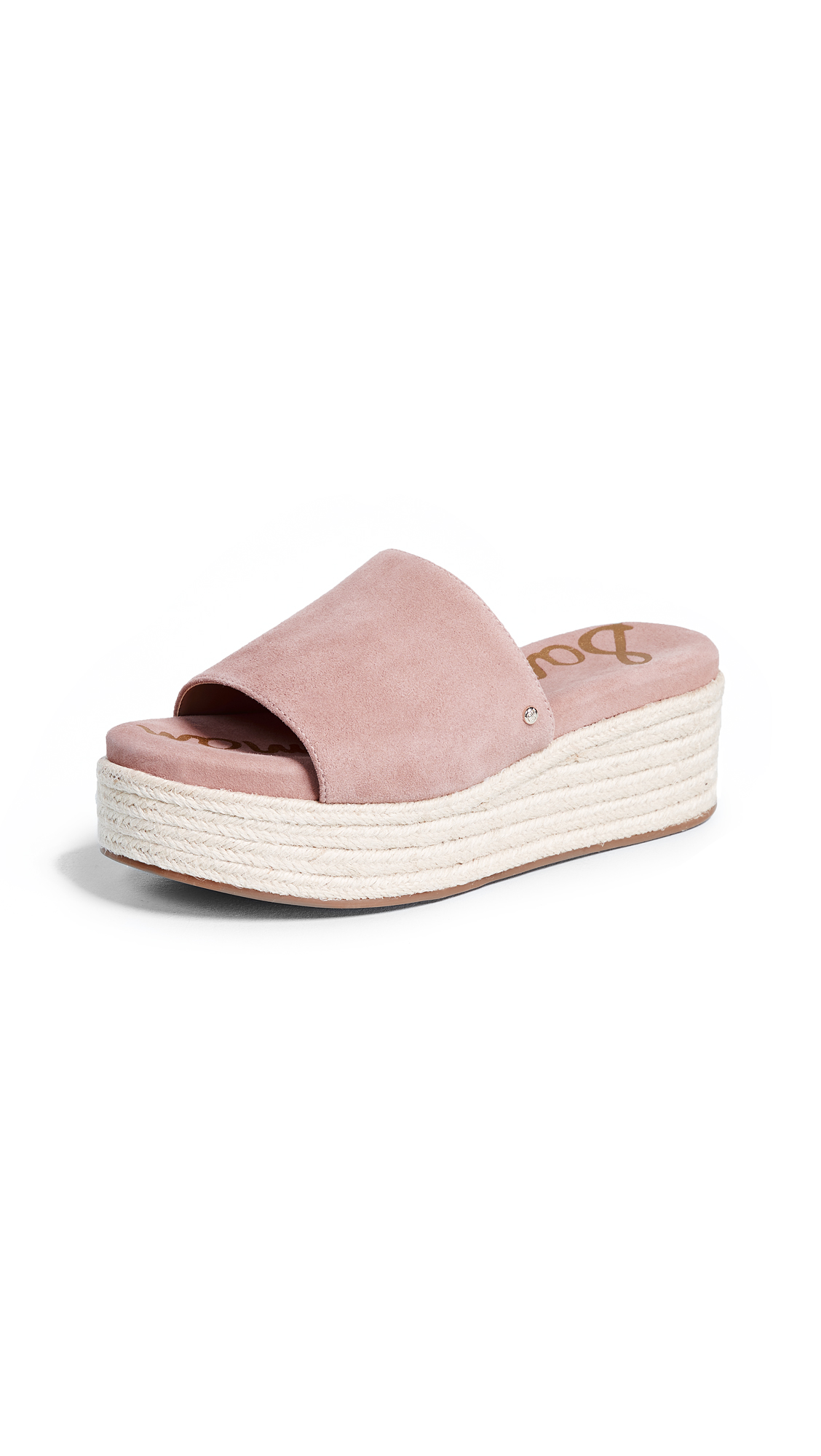 Sam Edelman Weslee Platform Slides - Dusty Rose