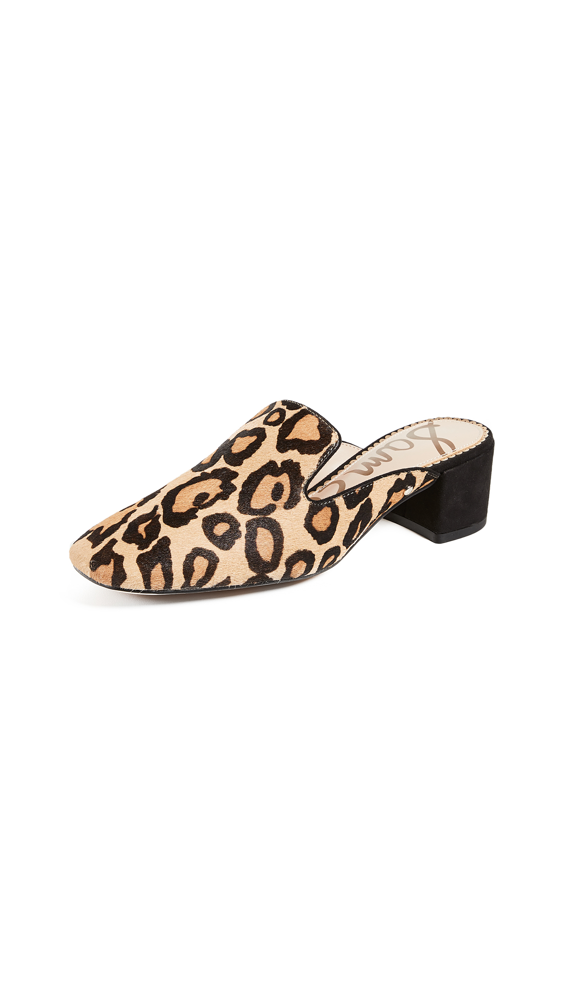 Sam Edelman Adair Mule Loafers - New Nude Leopard