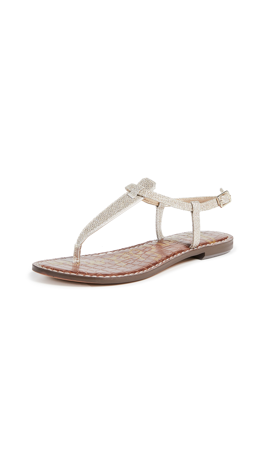 Sam Edelman Gigi Flat Sandals In Jute