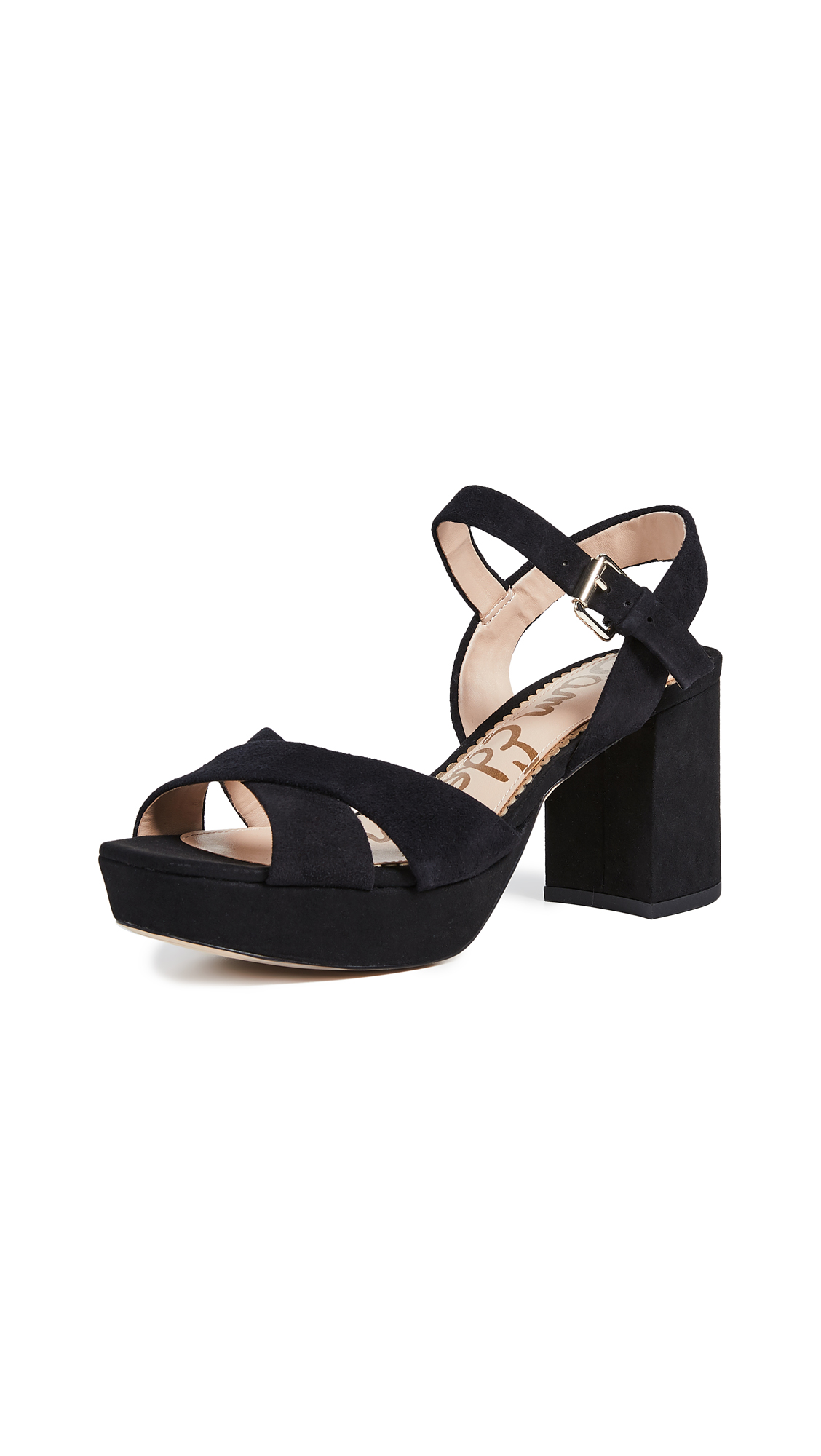 Sam Edelman Jolene Platform Sandals - Black