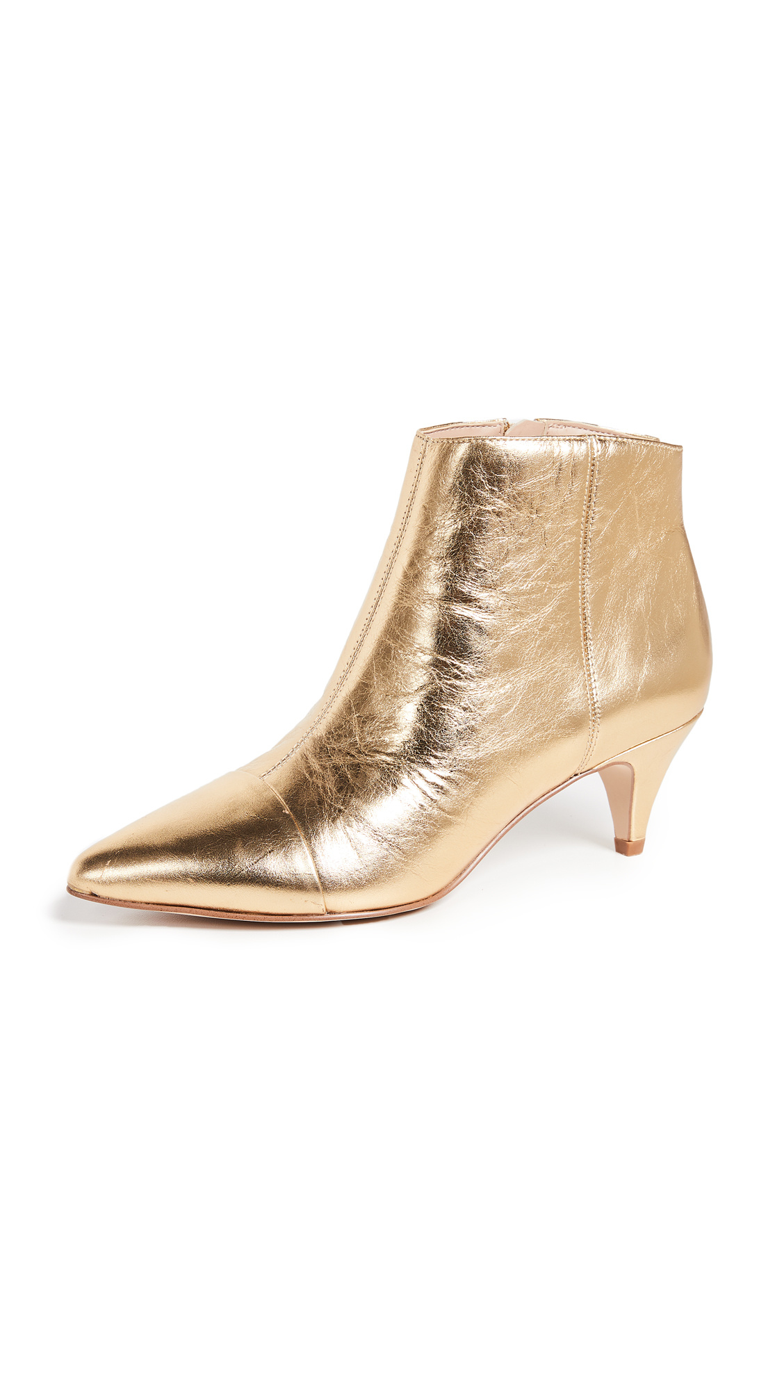 Sam Edelman Kinzey Booties - Bright Gold
