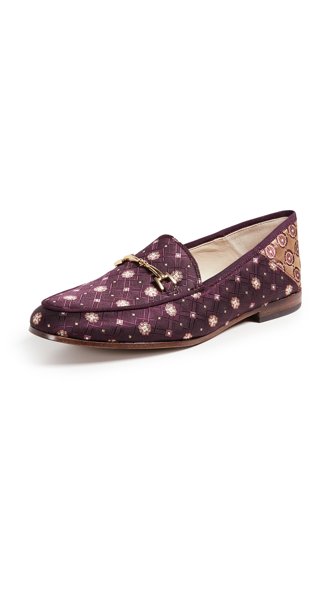 Sam Edelman Loraine Loafers - Wine Multi/Warm Yellow Multi