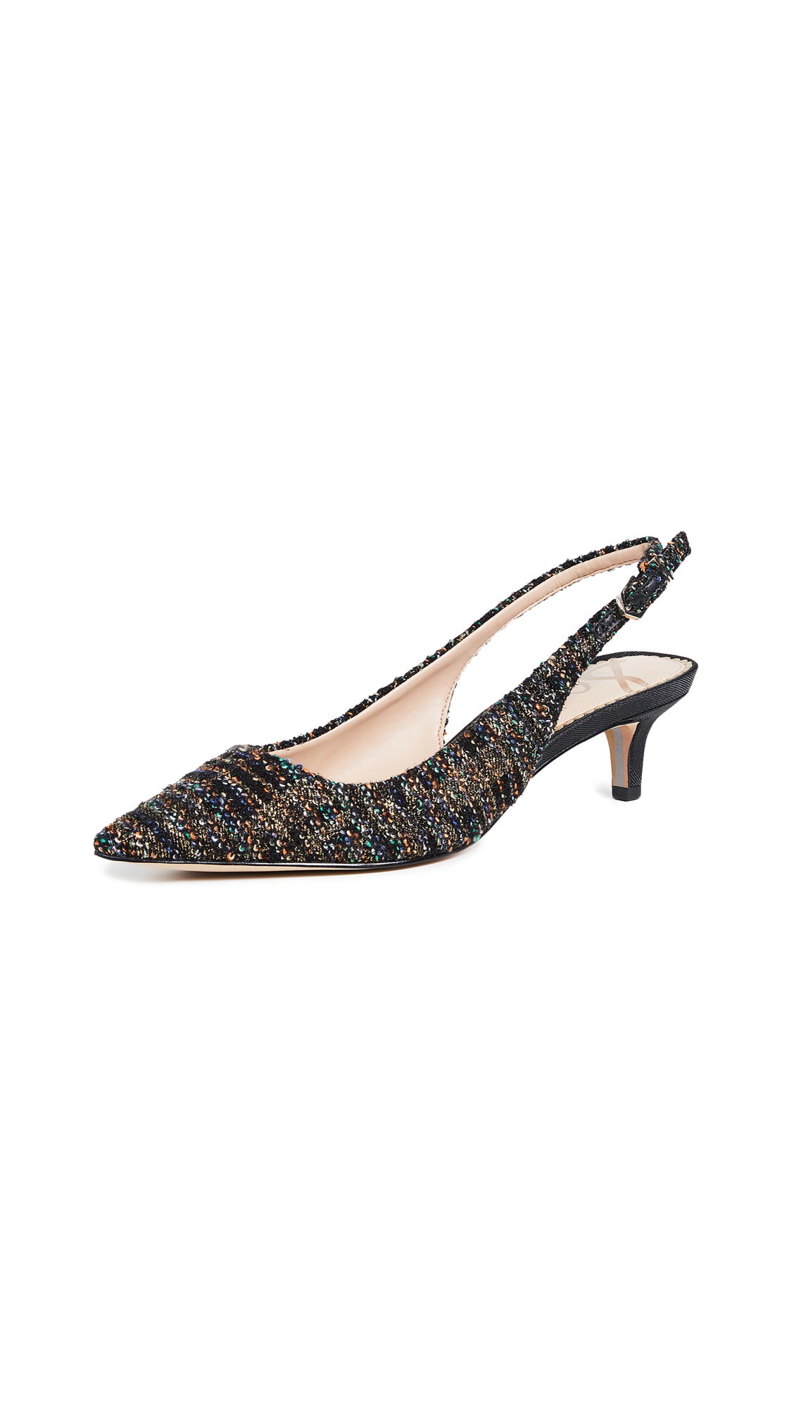 Sam Edelman Ludlow Slingback Pumps - Black/Gold
