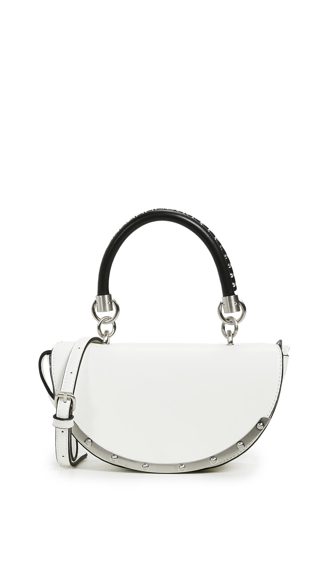 Sam Edelman Dinah Half Moon Bag In White