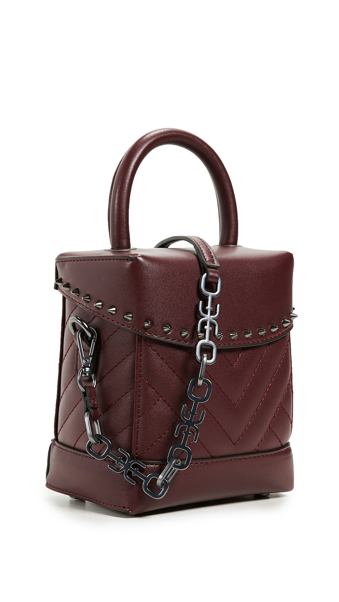 Sam Edelman Charlie Qulited Box Bag In Wine