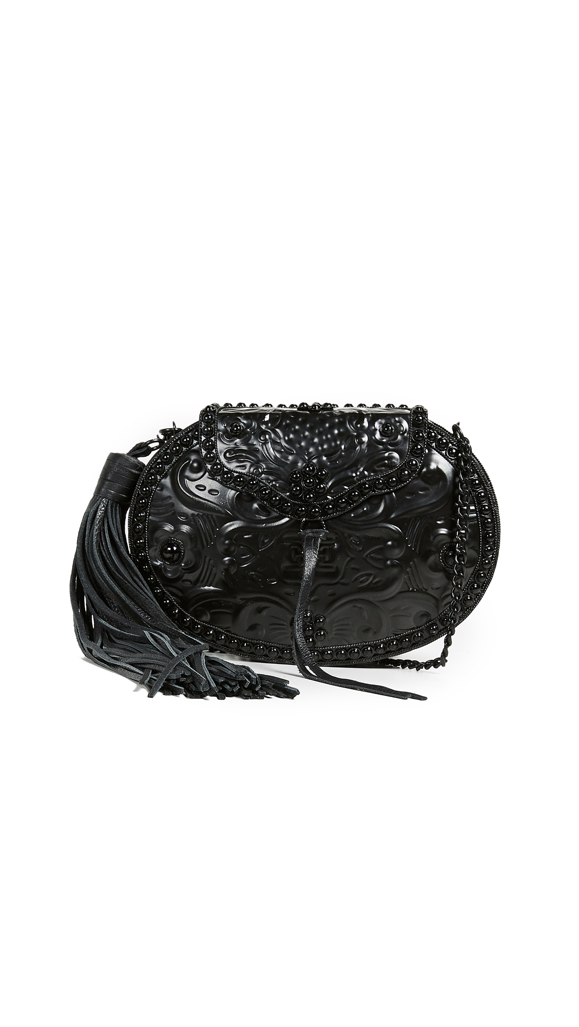 Sam Edelman Rosaleen Box Clutch In Matte Black